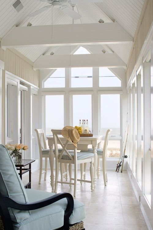 9899 best nautical home decor images on pinterest beach coastal style and home - Sunroom dining room ...