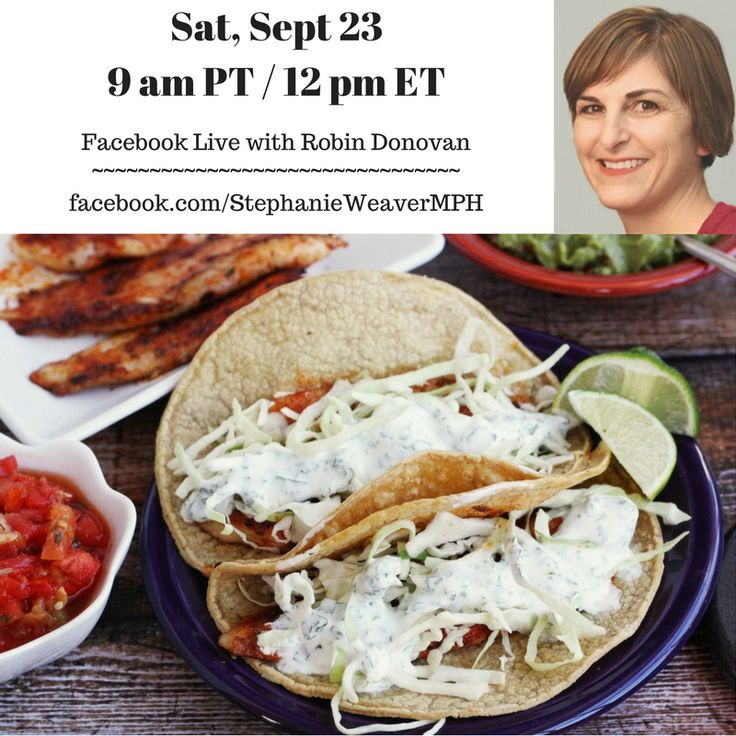I'll be making blackened fish tacos on Facebook LIVE tomorrow 9/24 at 9 am PT / 12 pm ET with Robin Donovan, author of Home Skillet. Join us!