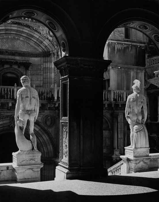 The statues of Mars and Neptune in the Doge's Palace, Venice   1933
