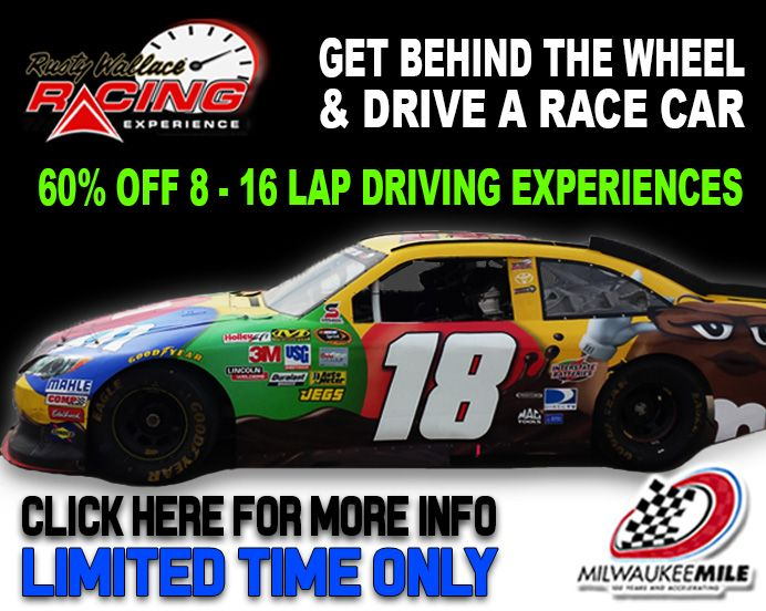 Get behind the wheel & drive 8 - 16 laps at the #MilwaukeeMile located at.  Wisconsin State FairWest AllisPark ...