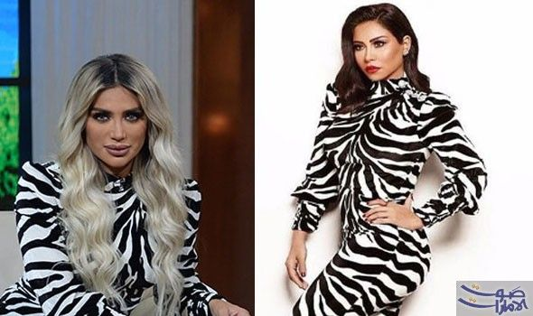 شرين عبد الوهاب ومايا دياب في تحدي فستان الأبيض والأسود Dresses