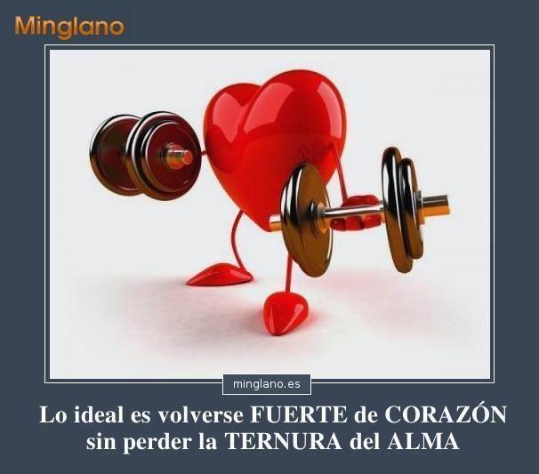 Frases de ser fuerte ante el amor... #amor #frases #corazon #minglano