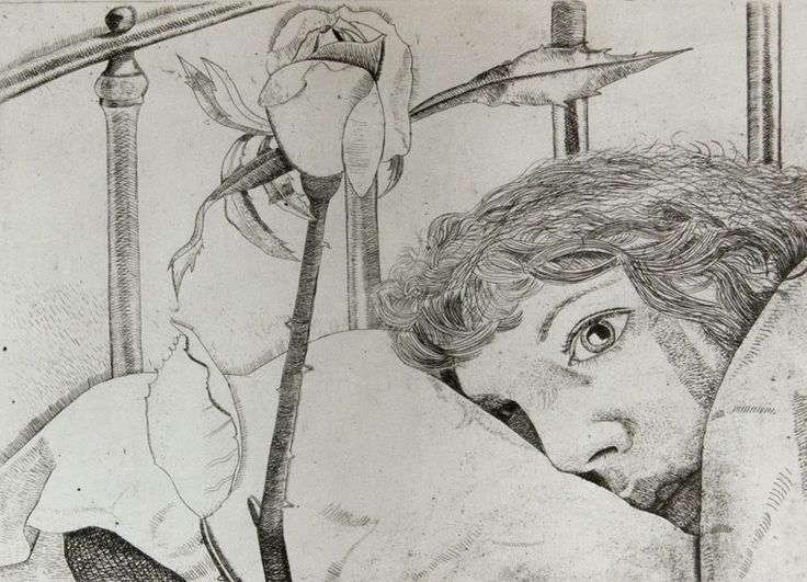 Lucian Freud 'Ill in Paris' - etching