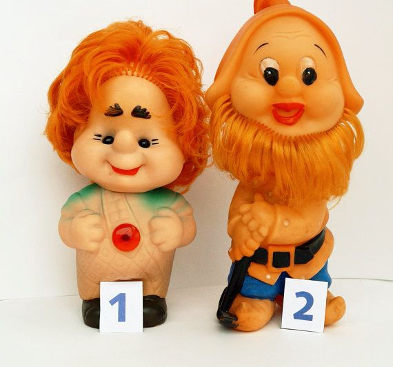 Vintage rubber toy Carlson and Gnome  Famous от ClockArtVintage