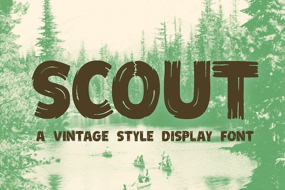 Scout - Vintage Style Display Font by jeffportaro on @creativemarket