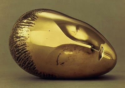 The Sleeping Muse bronze sculpture by Constantin Brancusi, 1910. This visage appeared on Vogue covers illustrated by great artists such as George Barbier, Georges Lepape and Benito | Musée National d'Art Moderne, Centre Georges Pompidou, Paris