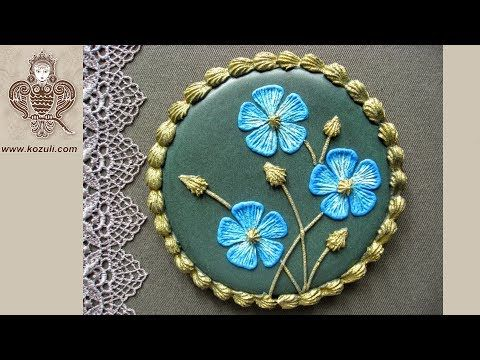 VIDEO TUTORIAL @kozuli_com  Brush Embroidery Flower Cookie. Violet Flowers Cookie. Gingerbread flowers. Cookie decorating with royal icing. - YouTube