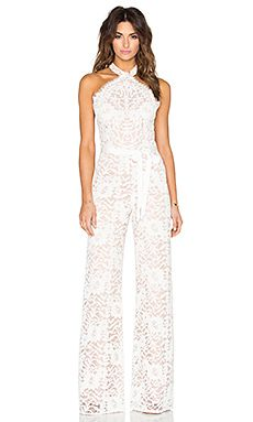 Alexis Rene Jumpsuit in White Lace                                                                                                                                                      More