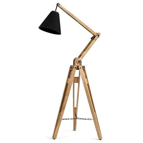 Architectural Floor Lamp - wooden lamp