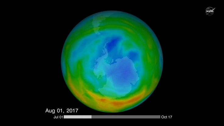 NASA sees direct proof that the hole in the ozone layer is slowly shrinking
