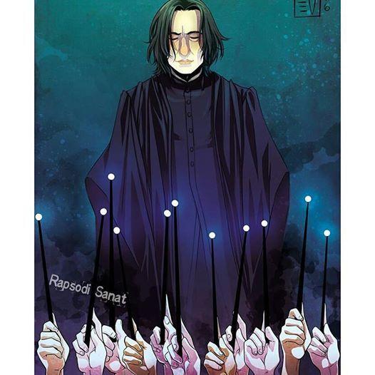 Severus Snape karakteriyle hepimizin gönlünü fetheden Alan Rickman'ın ölüm yıl dönümünde ışıklar içinde uyuması dileği ile.. www.rapsodisanat.com