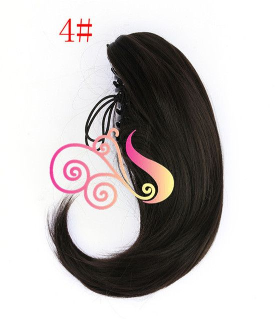 Short Ponytail Hair Extension Straight Synthetic 12 inch