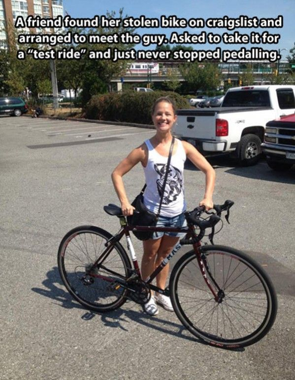 Stolen Craigslist Bike   // funny pictures - funny photos - funny images - funny pics - funny quotes - #lol #humor #funnypictures