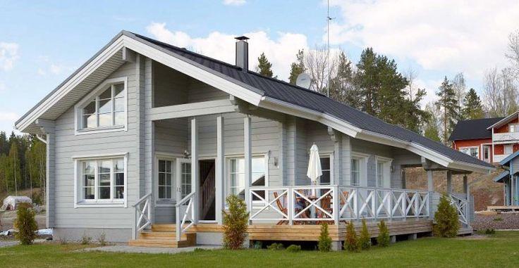 Maison en bois moderne en provenance de la Finlande  Maison d