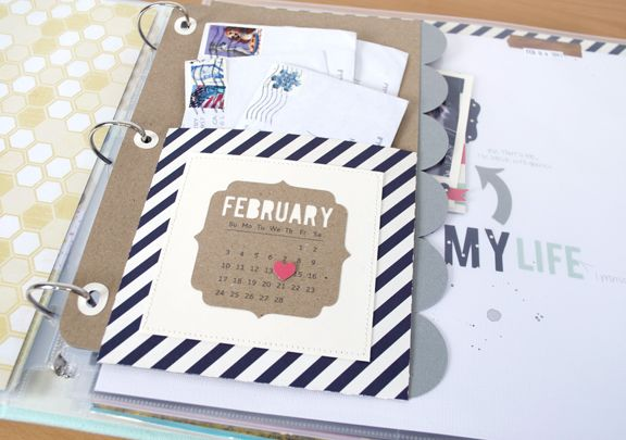 Monthly Page Dividers using FREE shape of the week 2/26