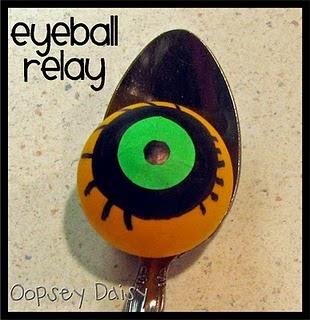 "Eyeball Relay – We balanced an ""eyeball"" (a pingpong ball) on a spoon walking across the room."