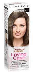 Clairol Natural Instincts Loving Care Color 75 Light Ash Brown, 1 box. YOU WILL RECEIVE 1 BOTTLE WITH THIS ORDER!!!!!.