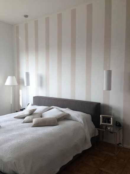 270° DI UN ATTICO A MILANO: Camera da letto in stile in stile Minimalista di D3 Architetti Associati