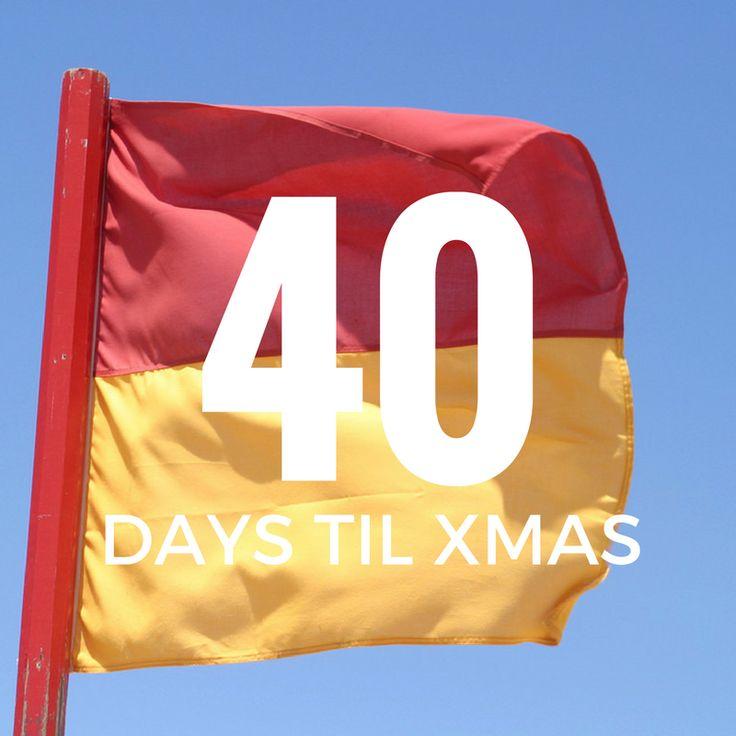 40 days till Xmas!  #xmas #holidays #2016 #holidayseason #holidays2016 #christmascountdown2016 #christmasiscoming #beach #holiday