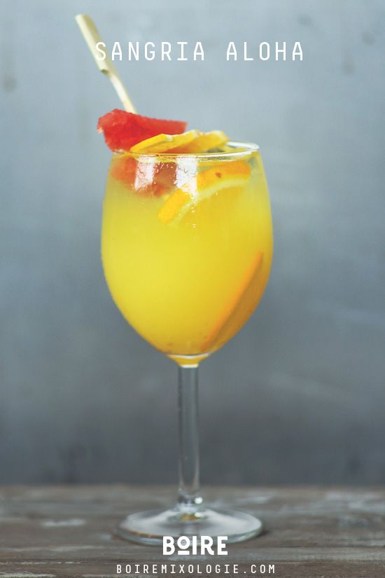 Cocktail: Sangria ALOHA ! #drink #summer #sangria #cocktail