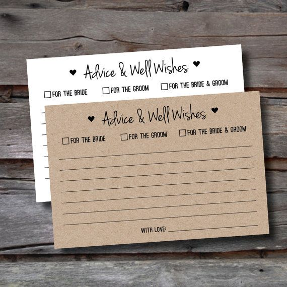 Wedding Advice Cards - Packs of 25-150 - Advice for the Bride & Groom