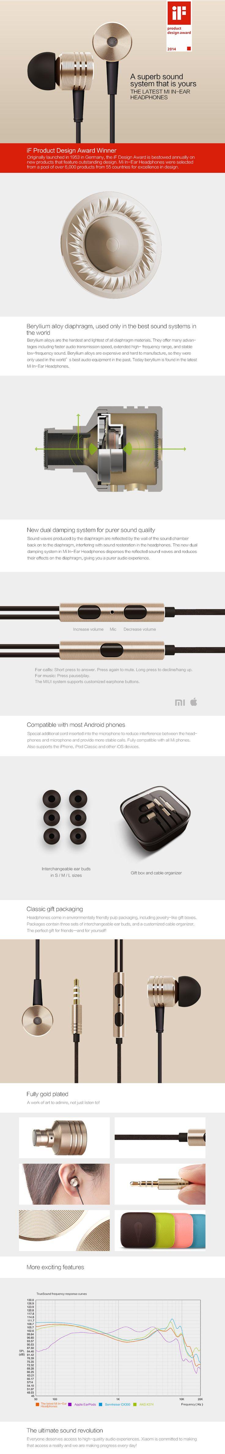 xiaomi ear phone in ear headphone http://www.geckoandfly.com/17008/mi-ear-headphones-review/ #xiaomi #headphones #earphone