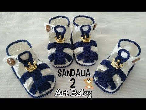 Sapatinho de Croche - Sandalia - Profª Fernanda Reis - PARTE 2