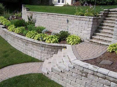 Garden Ideas On Two Levels 111 best retaining images on pinterest | landscaping ideas