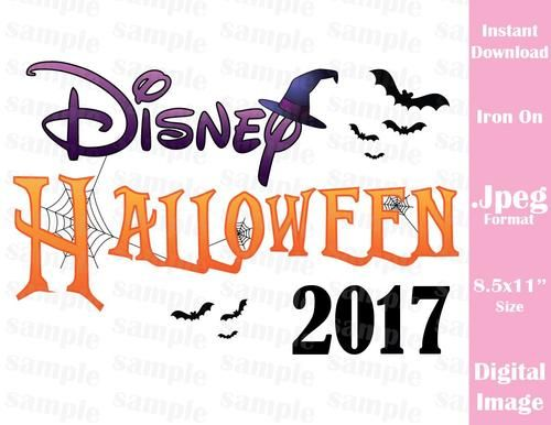 Instant Download Disney Halloween Inspired Family Vacation 2017 Jpeg Format for Iron On