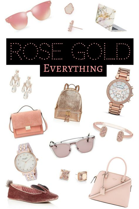 Rose Gold and Marble Gifts For Her | Kate Spade, Kendra Scott, Michael Kors, Ted Baker | Jewelry, Purse, Watches, Sunglasses and Slippers | Christmas List