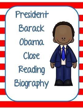 President Obama Biography Close Reading Biography