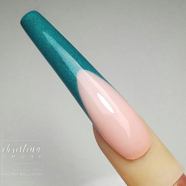 Beautiful French nail done by @chrystacle Ugly Duckling Master Educator  Find us on Facebook- Ugly Duckling Nails  #uglyducklingnails #chrystacle #instanails #nailsofinstagram #nail #nails #nail #nails💅 #nailsonfleek #nailicious #nailedit #acryl