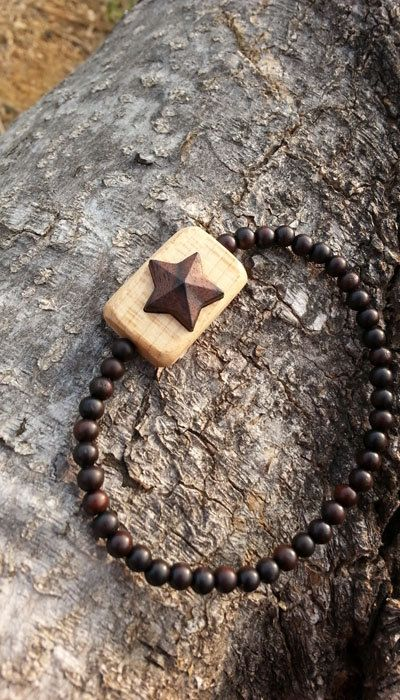 Check out this item in my Etsy shop https://www.etsy.com/listing/469384717/starwooden-starstar-necklacesmall