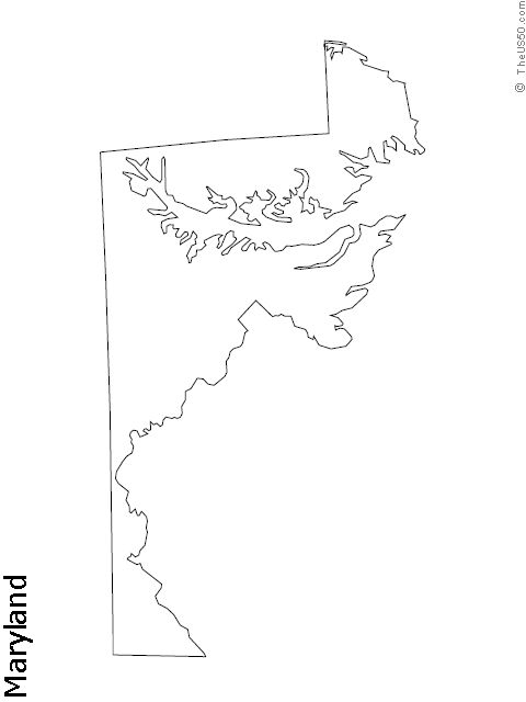 53 best State Outline Coloring Sheets images on Pinterest