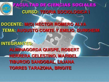 Diapositiva de augusto comte exposicion