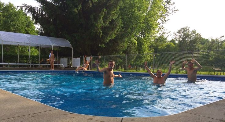 The pool is finally open bare oaks family naturist for Garden oaks pool