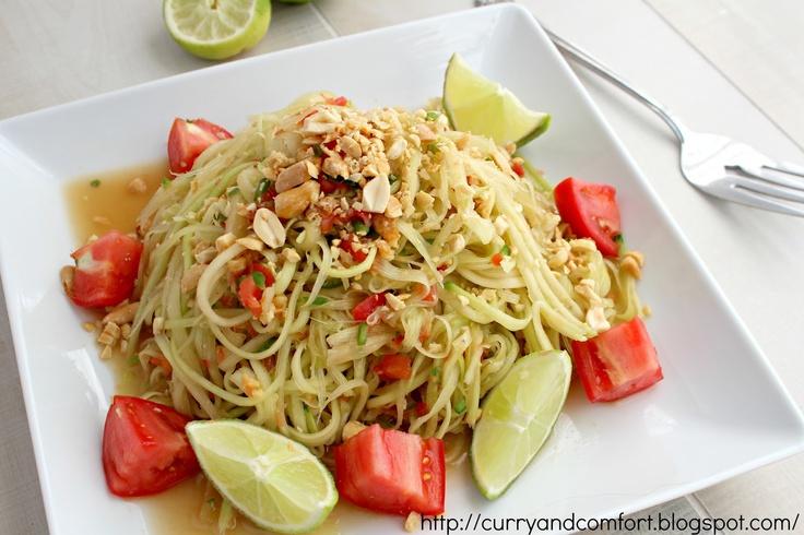 Thai Green Papaya Salad. Thai food - can eat every day! This salad is ...