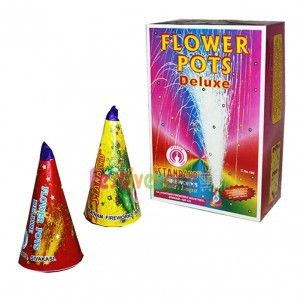 Ultra big sized flower pots, Sprays fountain of Golden sparkles into the air with mild sound http://www.festivezone.com/flower-pots-deluxe.html