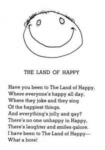 shel silverstein poem - The Land Of Happy