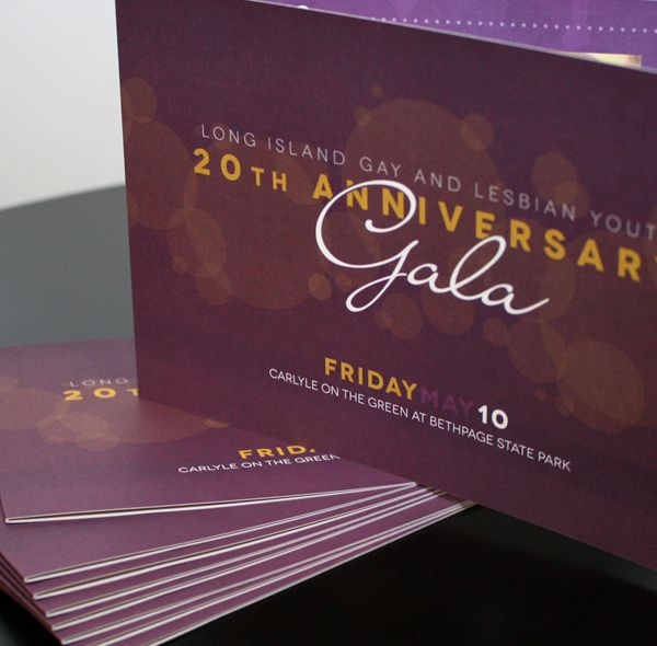 Ideas for celebrating our 20th - layout and history  Gala Invite - love the font combinations