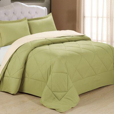 Cathay Home, Inc Peach Skin Ensemble Comforter Set & Reviews | Wayfair