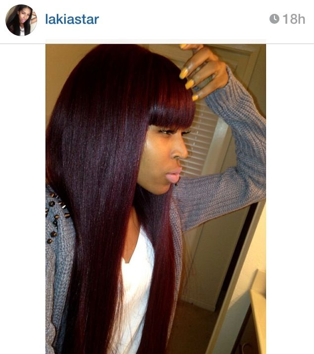 The exact color I want for my hair a dark reddish purple