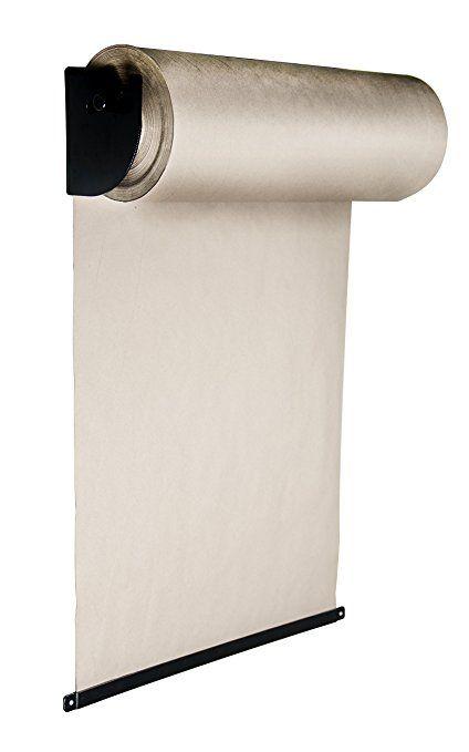 amazon com thinkscroll 24 wall mounted kraft paper roll holder