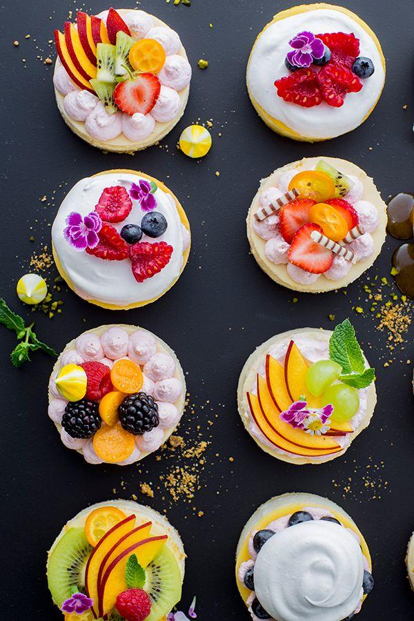 Genial Einfach Mini Cheesecakes Mini Kasekuchen Buffet Essen Cafe Essen