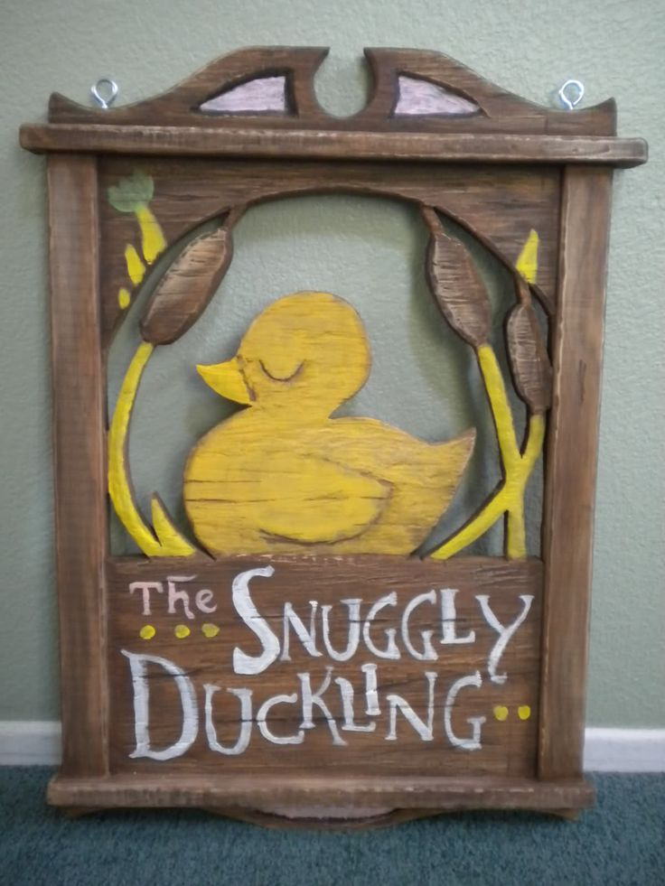The Snuggly Duckling!!! For a Tangled themed wedding. Could be put above the…