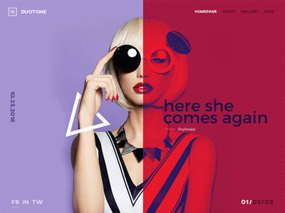 Duotone Animation by Irakli Kurtanidze #Design Popular #Dribbble #shots