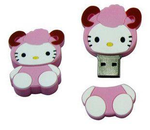 猫ちゃんのUSBメモリー、16G容量を持つオリジナルPVC製商品、台紙の製作可能