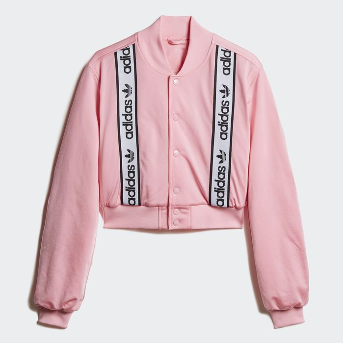 Cropped Bomber Jacket | Products in 2019 | Pink bomber