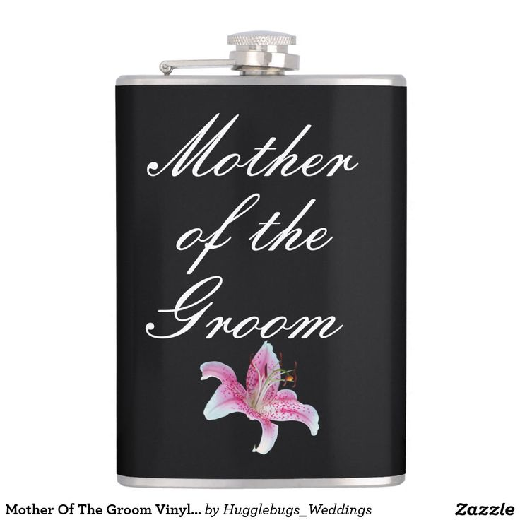 Mother Of The Groom Vinyl Wrapped Flask