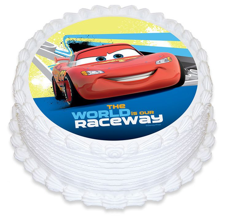 Disney Cars The World Is Our Raceway Edible Cake Image